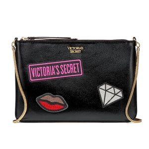 NWT Pink Victoria's Secret Black Crossbody Bag